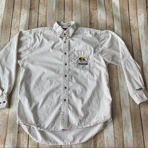 Mizzou men's button down shirt